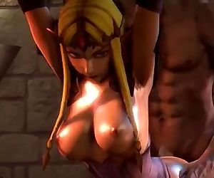 Busty Zelda bound and..