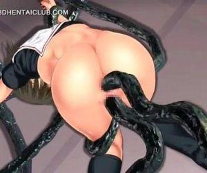 3d anime girl gets..