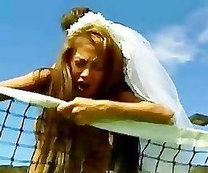 Brunette Asian bride..