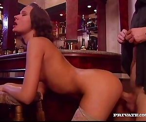 Wanda fucks in a bar