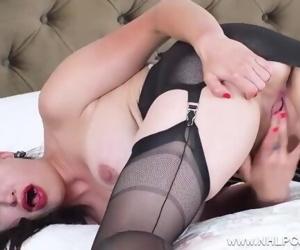 Big tits brunette babe..