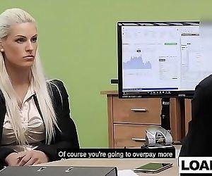Huge boobs MILF blonde..