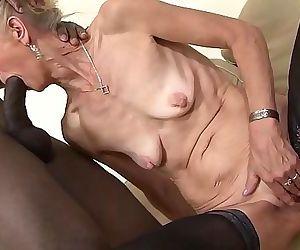 Granny fucked hard in..