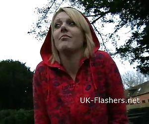 Flashing blonde Shay..