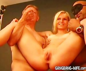 Old men gangbang young..