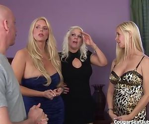 3 Blonde MILFs Have..