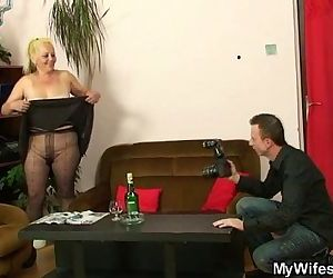 Mature babe caught by..