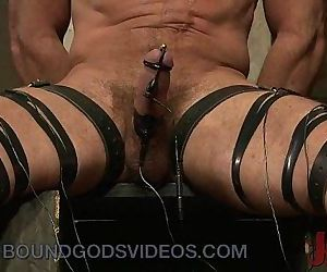Tied up gay electro..