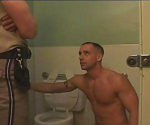 Cop in the bathroom
