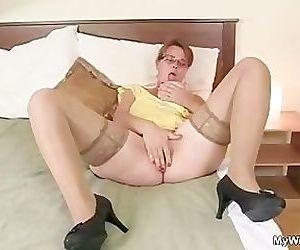He bangs his lusty..