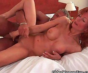 Redheaded gilf with..