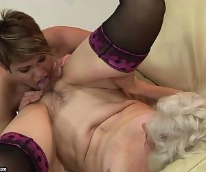 Licking the hairy cunt..
