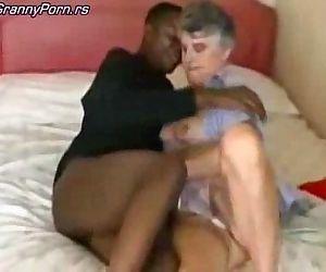 Grey Granny Fuck Black..
