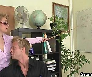 He bangs horny office..