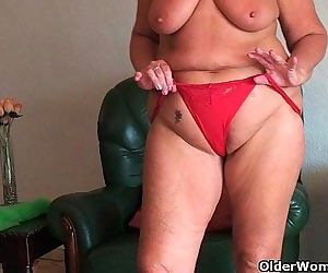 Chubby granny with..