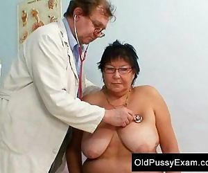 Busty elder woman gyn..