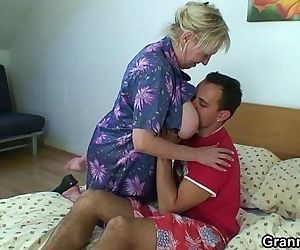 Naughty granny takes..