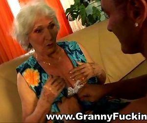 Mature granny getting..