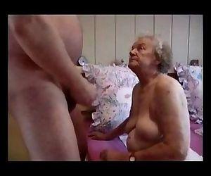Very old grandma having..