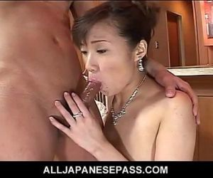 Japanese MiLF in a red..