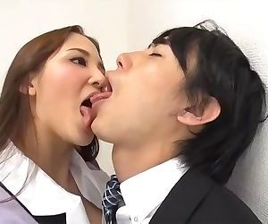 tongue kissed by femdom..