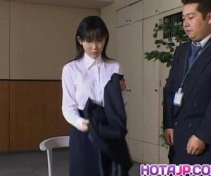 Yui Aina undresses in..