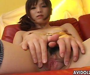 Slender Asian chick in..