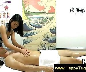 Asian beauty fondles..