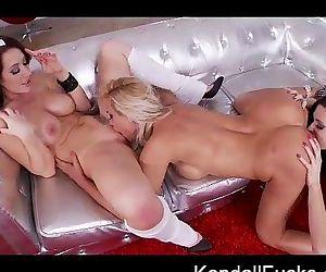 Christmas 3-Way Lesbian..