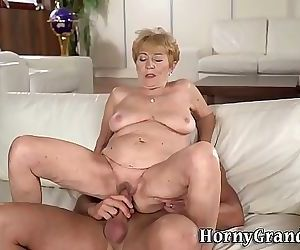 Old woman gets fingered..