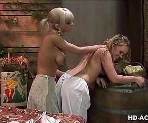 Hottest lesbian blonde..