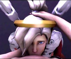 Overwatch - Mercy blowjob
