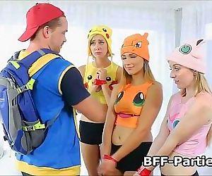 Teen PokeHoe foursome..