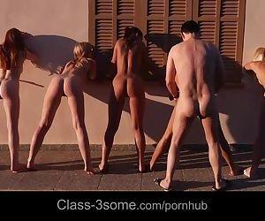 Five exquisite babes in..