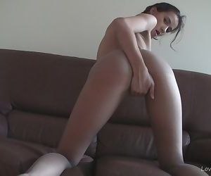 Nylons make her really..