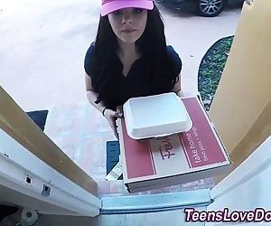 Real delivery teen jizzHD