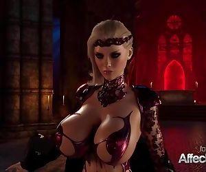 Blonde big tits vampire..