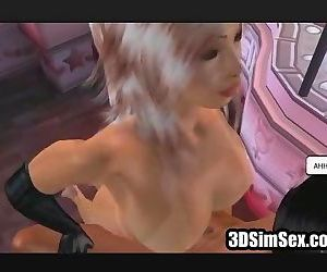 3D Sex threesome