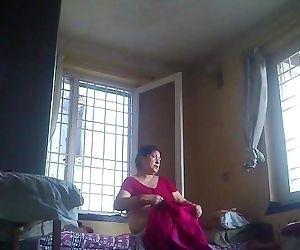 Desi granny after bath..