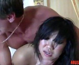Cute Asian Getting a..