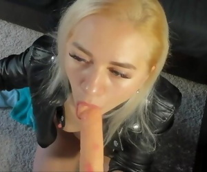 Camgirl Blonde Leather..