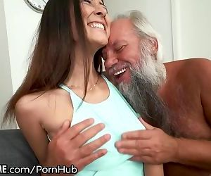 Grandpa Greets Teen..