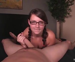 Young lady POV handjob