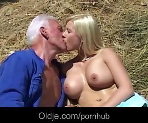 Old farmer Joe fucks..