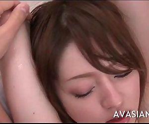 Slowly oiled massage..
