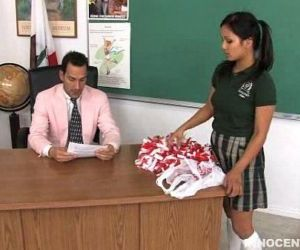 cute teen Lana spanked..