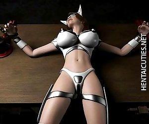 Hottie 3D hentai slave..