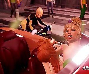 Blonde cop catches a..