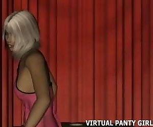 Hot virtual 3d stripper..