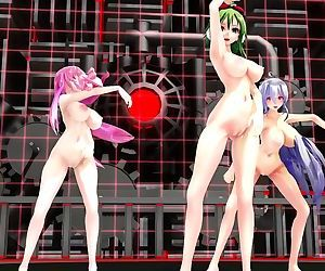 3D MMD Naked and..